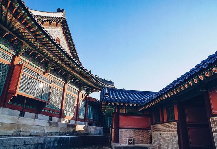 Architecture Built Structure Building Exterior Roof Low Angle View Day Traditional Building No People Clear Sky Sky Outdoors Travel Destinations