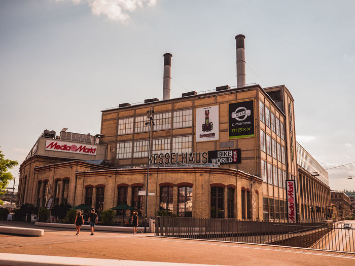 City Fabrik Gebäude Kesselhaus Media Markt Winterthur Industrie Urban Skyline