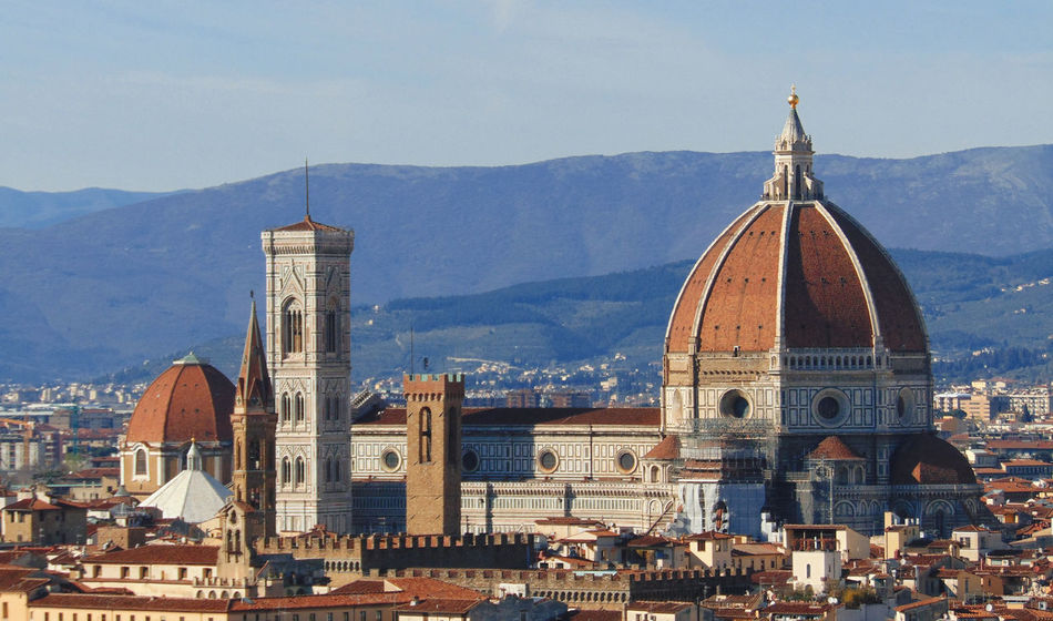 Abbey Architecture Brunelleschi Building Exterior Built Structure Campanile Di Giotto Cupola Dome Duomo Di Firenze Firenze Florence Giotto Italia Italy Medieval Mountain Place Of Worship Religion Sky Spirituality Toscana Tourism Travel Destinations Tuscany
