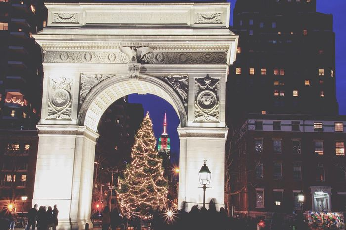To love and give love this year Newyorkcity Love Holidays Empire State Building Washingtonsquarepark Christmastime NYE2015 Nyu Spirits NYC