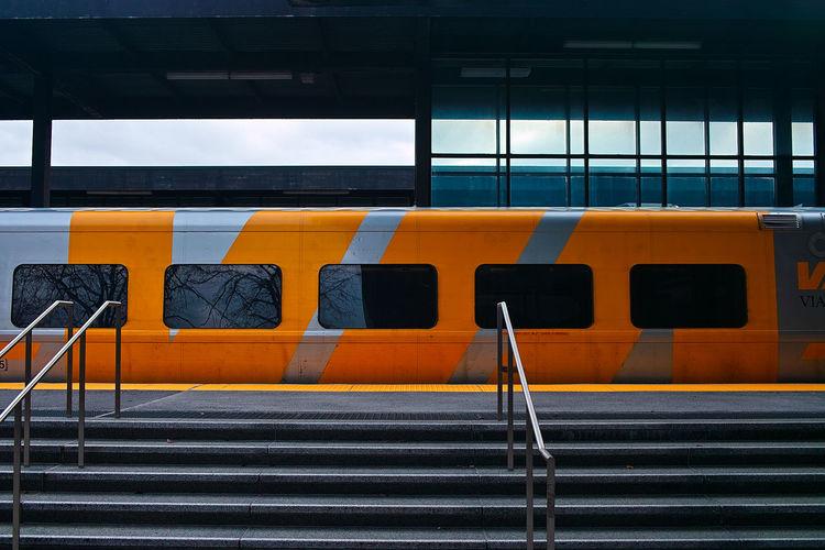 A platform of a railway station