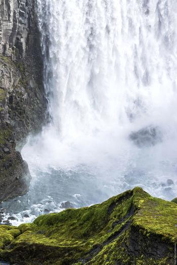 Dettifoss Canyon Cascade Cascades Chute D'eau Dettifoss Iceland Waterfall