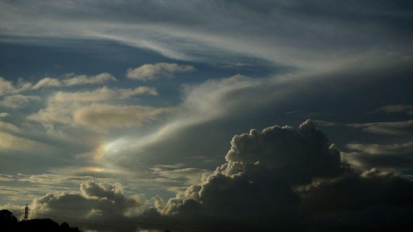 Dramatic Sky Sun Dog Cumulus Cumulus Cloud Sky And Clouds Cloudlovers Beauty In Nature Clouds And Sky Cloudporn Skyscape Skylovers Skyporn Cloudscape Sky No People Mirrorless Japan