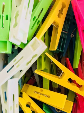 Colorful clips Clips Office Supply Indoors  High Angle View Stapler Large Group Of Objects No People Full Frame Backgrounds Close-up