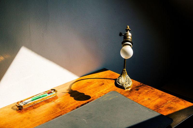 Old-fashioned desk lamp