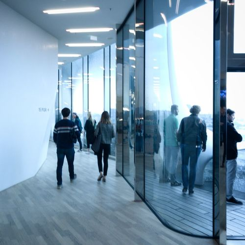 Group Of People Men Adult Full Length Women Walking Rear View Indoors  People Reflection Standing Architecture Glass - Material Real People Arcade Casual Clothing Building Corridor