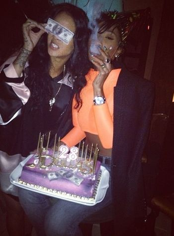 Melissa Forde & Rihanna Best Friends Smoking Weed Model Gorgeous Aesthetics Urban Fashion Street Fashion Birthday Bash