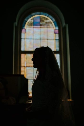 Bride silhouette Window One Person Side View Silhouette Indoors  Sitting One Woman Only Only Women Adults Only Adult People Day Young Adult Welcome To Black