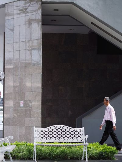 Standing Adult One Person Full Length People Day Outdoors City Walking Walkway Working Man Bangkok Thailand.