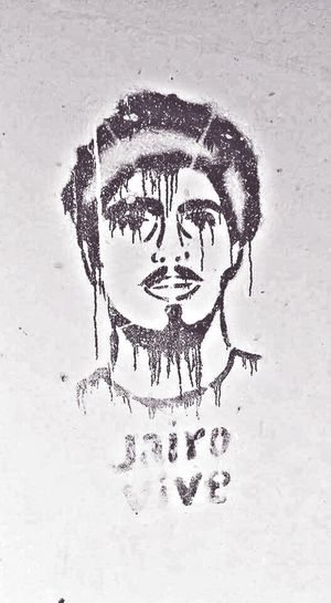"""I took this picture not knowing who Jairo was thinking he was a local thug or drug dealer, but then i learned that this man died not only serving his country, but protecting what he most admired from hunters and poachers... Graffiti Art Wildlife Protection """"Jairo lives"""" Jairovive Jairolives Enviromentalist"""
