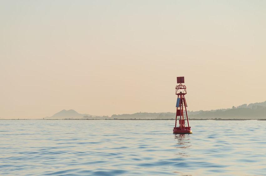 Red buoy in the Vigo bay Blue Buoy Calm Calm Water Galicia, Spain Ocean Ocean View Red Signal Vigo Vigo, Galicia (España) #vigo #galicia #pontevedra #spain #españa