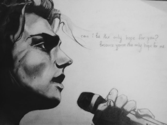 Mychemicalromance Drawing Black And White The Only Hope For Me Is You