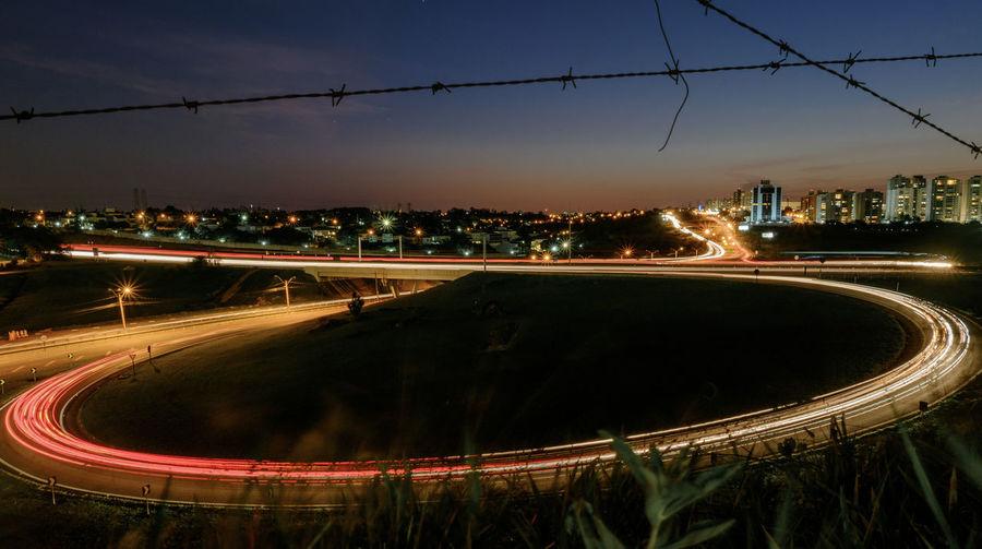 The Loop Circle Blurred Motion City Cityscape Illuminated Light Circles Light Loop Light Trail Long Exposure Loop Motion Night No People Speed Traffic Transportation EyeEm Ready