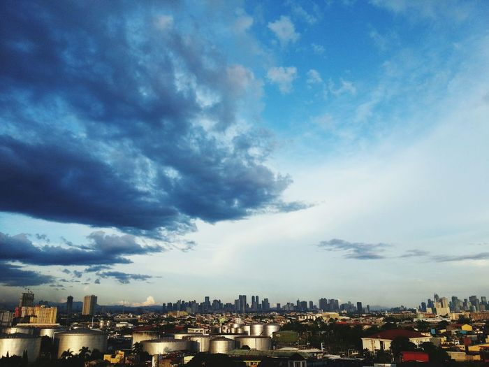 """""""Manila skyline"""".... A Bird's Eye View Urban Scene Skyline Cityscape Clouds And Sky Landscape_photography Photography At The Finest! Getty Images Eye4photography  EyeEm Best Shots Eyeem Collection First Eyeem Photo EyeEm Mobile Photography Clear Sky @ Manila , Philippines"""
