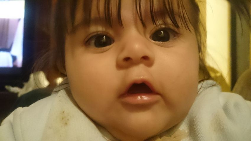 Comarca Lagunera My Baby My Baby Girl <3 My Beloved Daughter God Is Good God Is Great. EyeEm Selects My Fadhila Headshot Portrait One Person Human Face Looking At Camera Close-up Childhood Indoors  Child Children Only Human Eye Front View