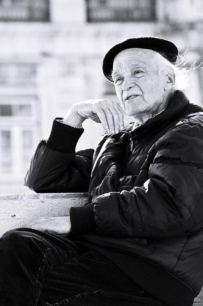Lisbon Potrait Old Man Nikon Blackandwhite Black & White Zerofotografie.nl Streetphotography Street OpenEdit