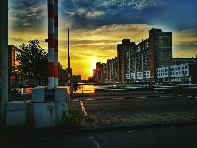 Good Morning 🌇 Stunning Sky Sunset City Architecture Cityscape Building Exterior Modern Built Structure City Life No People 5:00 Am 😊❤️❤️❤️