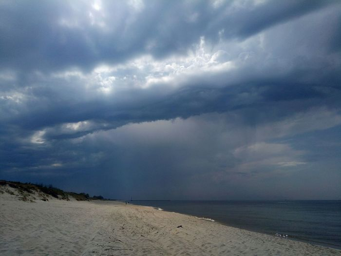 Thunderstorm Water Sea Storm Cloud Beach Sand Dramatic Sky Sky Horizon Over Water Landscape Lightning Power In Nature