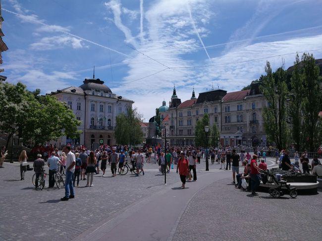 Ljubljana, Slovenia Tourism Prešernov Trg People