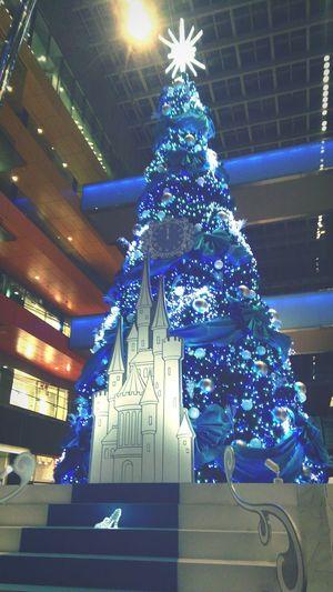 Christmas Tree Illuminated Christmas Lights Blue No People Tree Holiday - Event Christmas Ornament Outdoors
