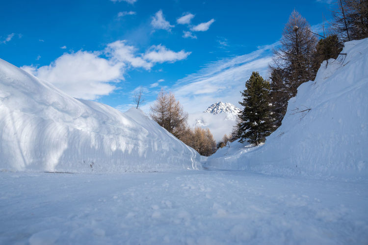 Landscape_Collection Nature Path Tranquility Trees Winter Wintertime Beauty In Nature Blue Sky Cold Temperature Day Landscape Landscape_photography Mountain Non Urban Scene Ski Holiday Snow Snowcapped Mountain Tranquil Scene Winter Wonderland