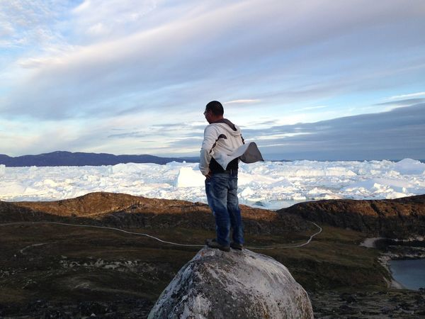 Me Windy Day Icefjord Mountain Standing On A Rock Sermermiut Ilulissat Hikingadventures Nature LastYear Last Summer Greenland Scenics Beauty In Nature Outdoors Tranquil Scene Hiking Amazing View