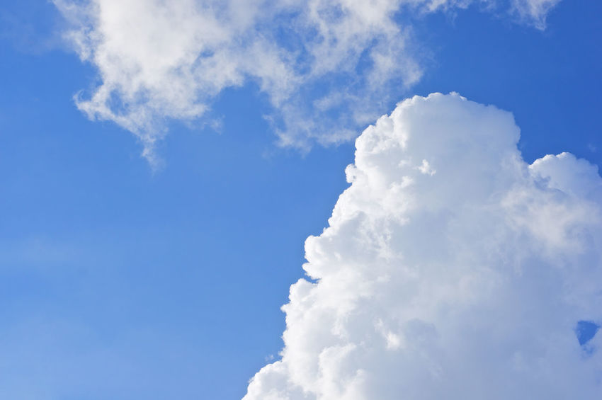 White cloud like woman laugh on blue sky as a background. Atmosphere Beautiful Cloud Heaven High Peace Scenic Weather Air Background Blue Climate Cloudscape Cumulus Day Daylight Meteorology Moisture Nature Nebulosity Outdoor Season  Sky Tranquility White