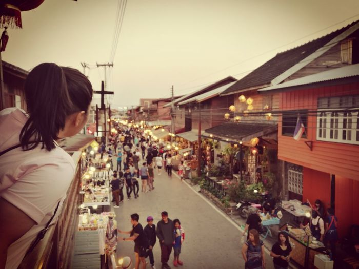Real People City Women Adults Only Building Exterior Illuminated Sky Outdoors Market Stall Vacations Large Group Of People People Adult Day Food Drink Thailand Food And Drink First Eyeem Photo