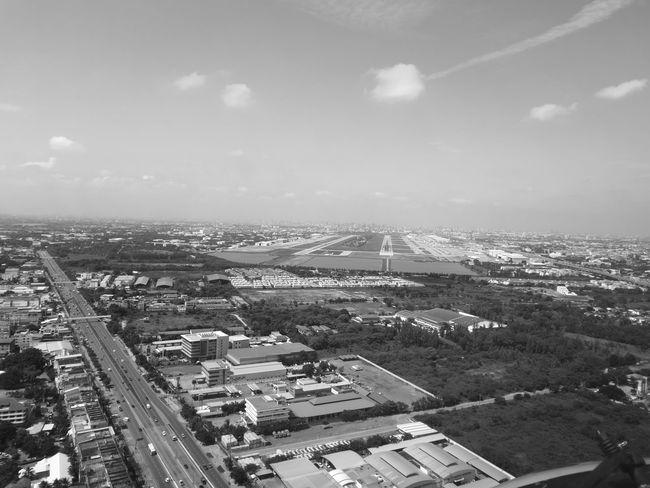"""......."""" เดืองมอน....ดอนเมือง """"........The Journey Is The Destination Donmuangairport Airport Black And White Black & White Sky thailand On The Way My Way Mook Office Window A Bird's Eye View"""