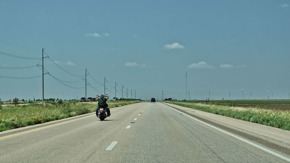 Texas Roads Motorcycle Road Texas USA Endless Road Road The Way Forward Transportation