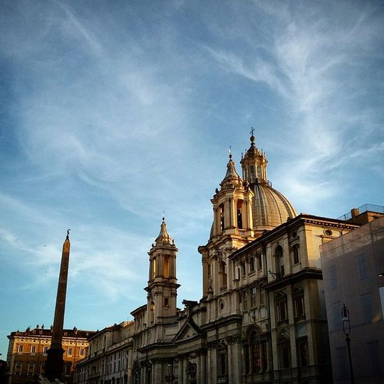 Lights of Sunset . Landmark PiazzaNavona Piazza Navona Landmarks Rome Roma Italy Italia Architecture Architecture_collection Building Buildings Photo Afternoon Sun Sunlight Sky Beautiful Love Amazing View Life Seeing The Sights My Best Photo 2015