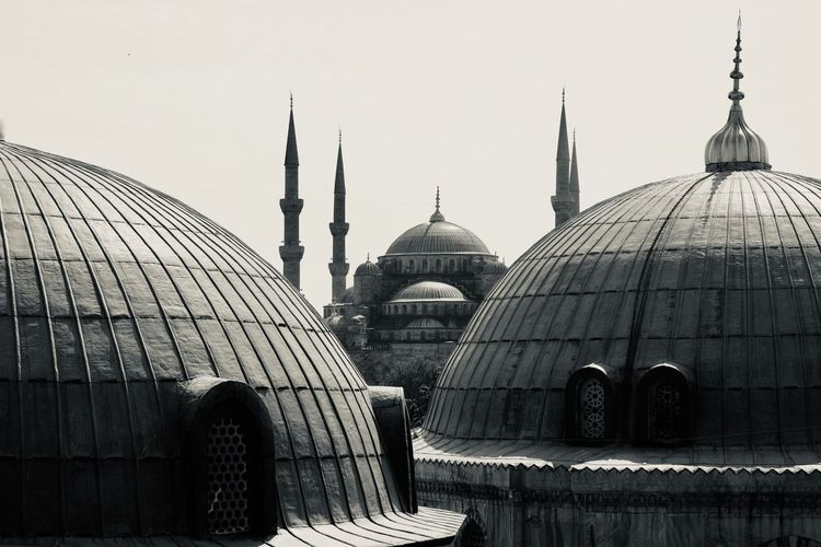 View of mosque dome against sky