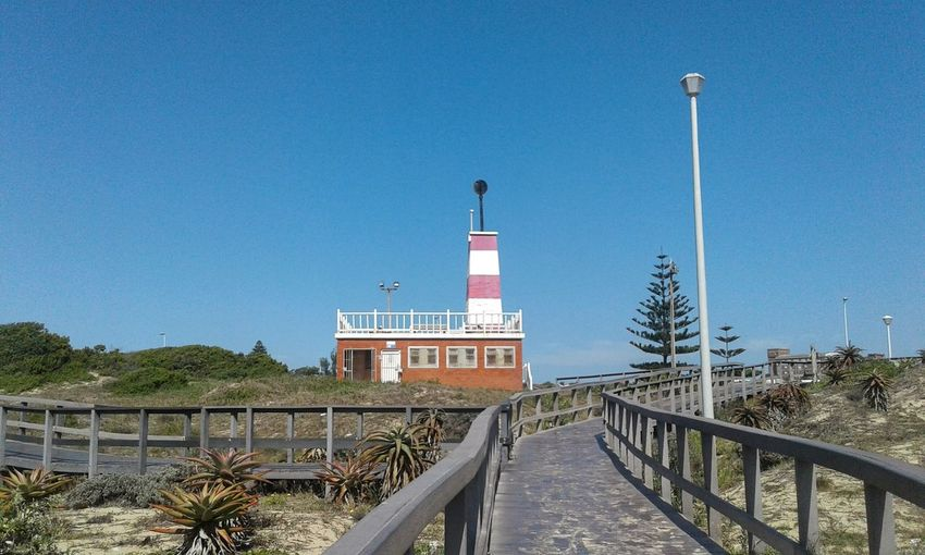 Beach Boardwalk Summerstrand Beacon Blue Sky Port Elizabeth South Africa Beauty In Nature Architecture