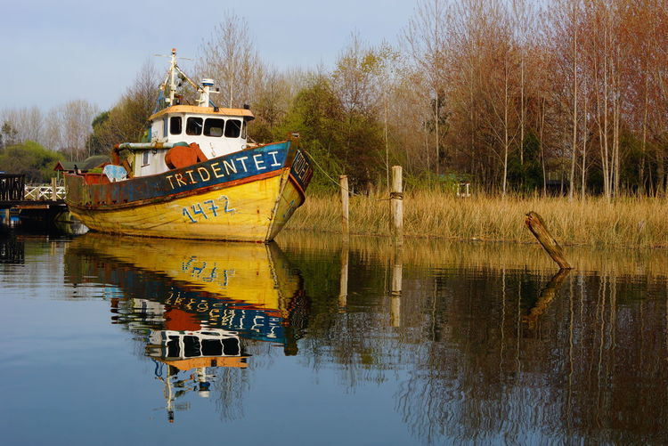 Beauty In Nature Boat Nature Nautical Vessel Non-urban Scene Reflection Tranquil Scene Tranquility