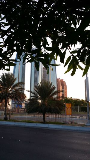 Abu Dhabi 2014 Corniche Street Towers Sunset