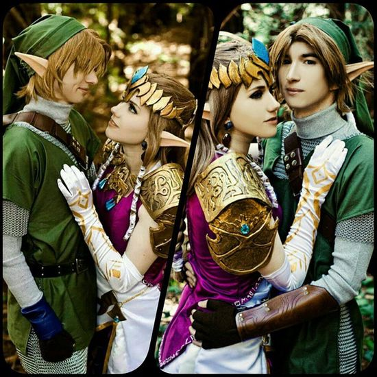 Favorite. Halloween. Costume. Ever.🌳🍃🍂🍃🍂🎃 Zeldafan Zelda Link Halloween Costumes Couplecostume