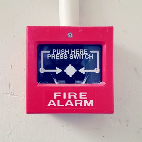 Red Communication Close-up Text No People Fire Alarm Box Emergency Press The Button Safety Fire Alarm