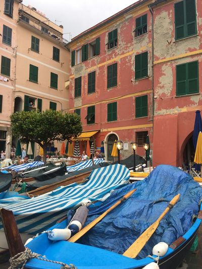 A picture from Vernazza, part of Cinque Terre in Italy. Cinque Terre Liguria,Italy Traveling Architecture Boat Building Exterior Built Structure City Day Liguria Nautical Vessel No People Outdoors Summer Tourism Travel Destinations Vernazza Water
