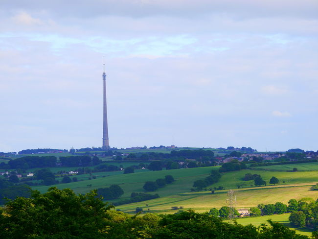 Architecture Beauty In Nature Built Structure Cloud - Sky Day Emley Moor Field Huddersfield June June 2017 Landscape Nature No People Outdoors Tree