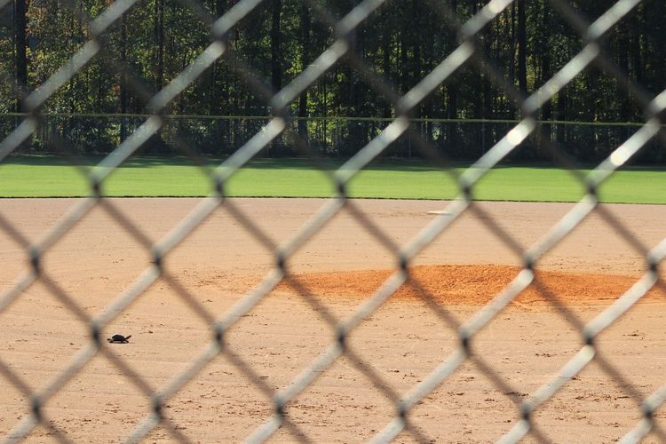 Baseball Baseball - Sport Baseball Field Baseball Game Baseball Player Baseball Stadium Baseball Team Baseball ⚾ Basketball Chainlink Fence Close-up Crisscross Day Fence No People Outdoors Playing Field Protection Sport Sport Equipment Sports Sports Equipment Sports Photography Sports Team Sportsman