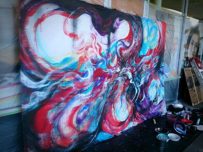 9/11 NaokoKitamura Livepainting Art Abstract Painting dnation
