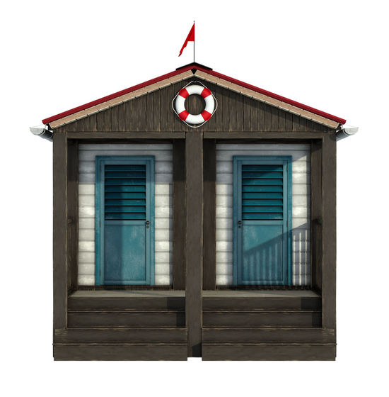 Retro Steps Wood Architecture Beach Cabins Buoy Day Door No People Old Outdoors Vacation White Background Wooden