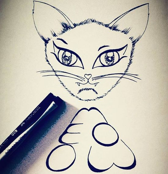 Meeeoooooowwww 🐈🐱 😊 Kitty Creative_animalart Animalart Animals Cat Kitten Love Cute Meow Eyes Arts_help Artsy Creative Lettering Followforfollow Art_collective Artofdrawingg Arts_gallery Blackpen BlackInk Lineart Blackandwhite Cats Sketchbook Sketch_daily