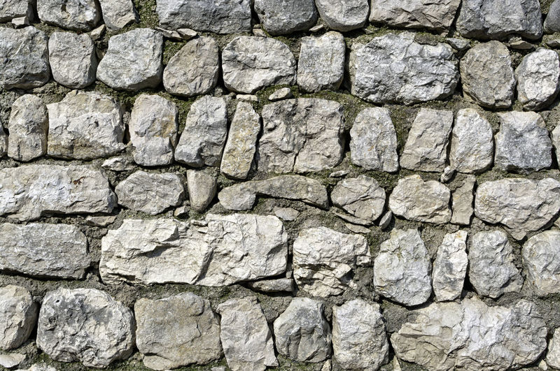 Old white and grey stones wall texture. Abstract grunge uneven bricks and concrete background. Multicolored stones and bricks rock pattern Natural Retro Rock Wall Weathered Abstract Architecture Backgrounds Block Brick Cement Concrete Dirty Granite Grey Grunge Old Pattern Rough Stone Structure Surface Textured  Urban White