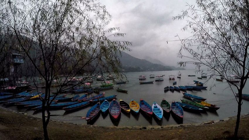 Phewa Lake No People Mountain Outdoors Cloud - Sky Pedal Boat nepal travelNepali Culture Lake