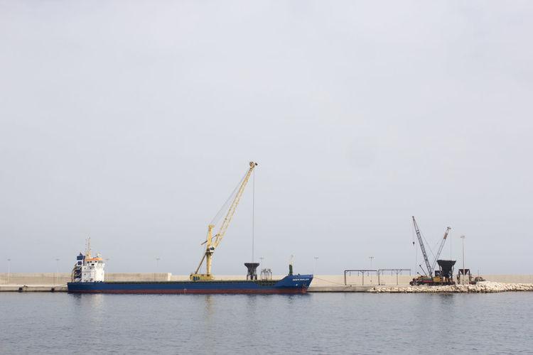 Ship In Sea At Harbor