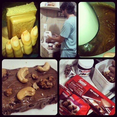 Brownie Chocolate Cremedeavelã Castanhadecaju Docinhoemação felizes gordices *.....* <3