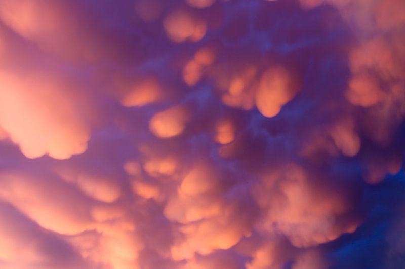 Orange-blue sky