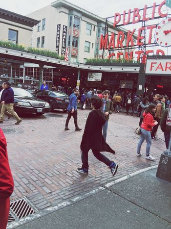 Building Exterior City Architecture Built Structure City Life Real People Outdoors Lifestyles Women Men Day Adult Adults Only People Young Adult PikePlaceMarket Seattle, Washington
