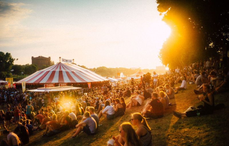 35mm VSCO Adult Architecture Audience Crowd Event Festival Group Of People Illuminated Land Large Group Of People Leisure Activity Lifestyles Men Music Festival Nature Outdoors Real People Sky Spectator Sunlight Sunset Vscocam Women
